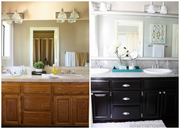 Bathroom before and after - Ask Anna