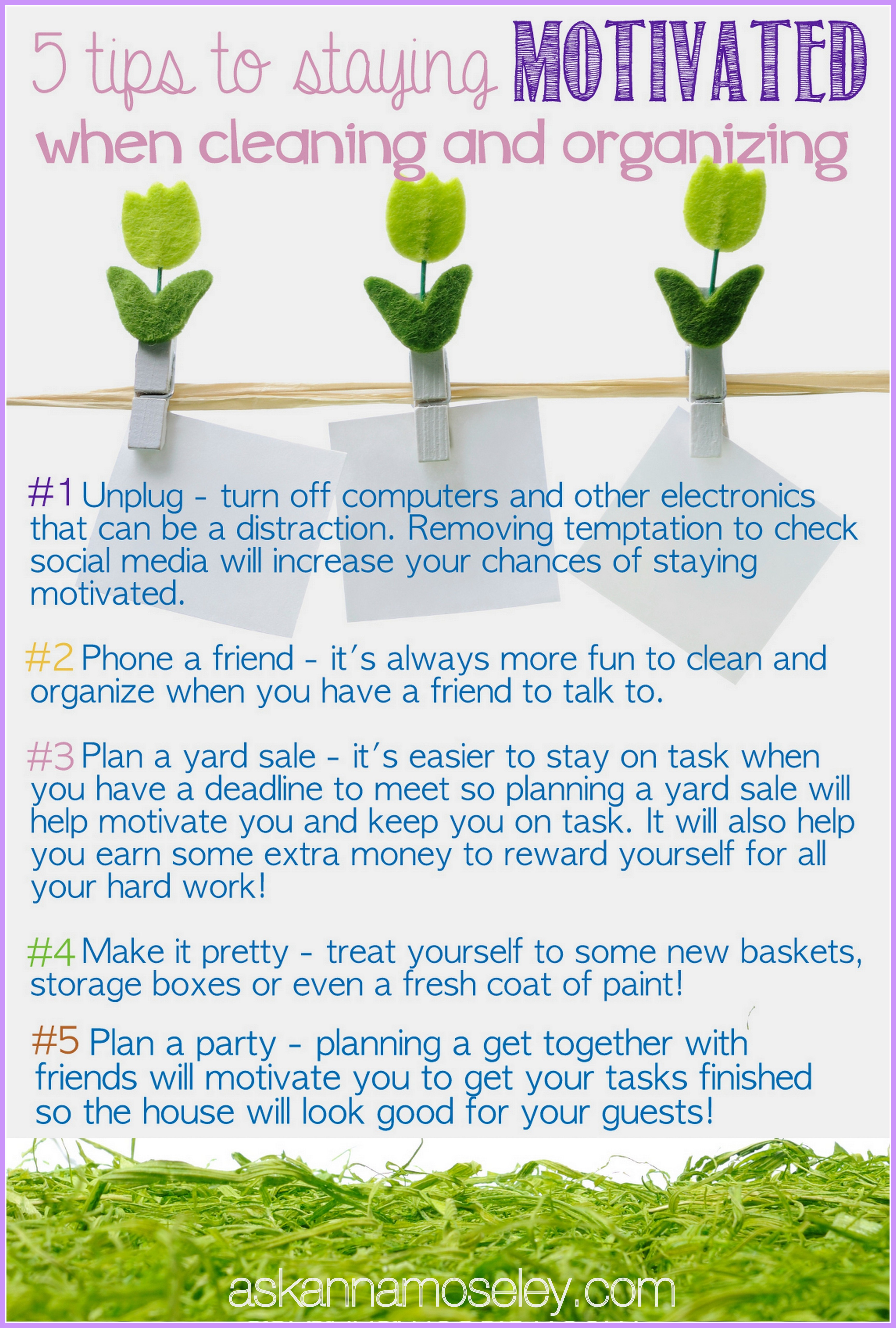Tips for how to stay motivated while cleaning and organizing - Ask Anna