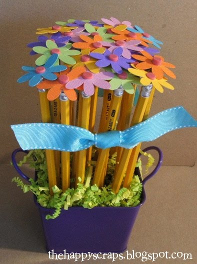 Potted pencil flowers
