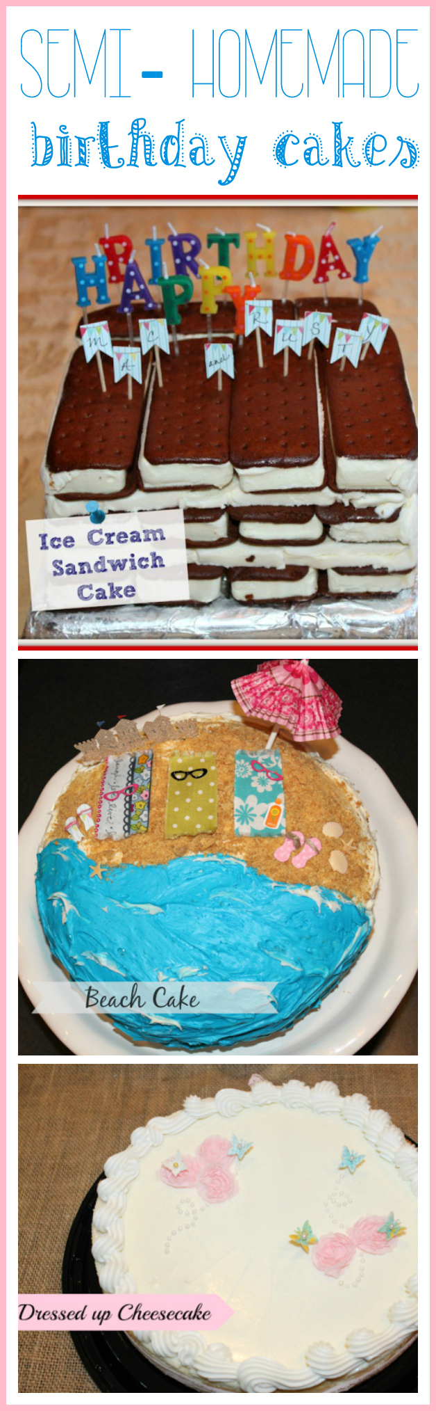 Semi-homemade birthday cake ideas - Ask Anna