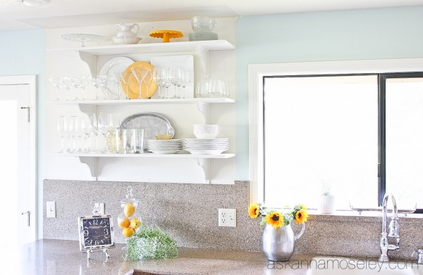 Open shelving in the kitchen- Ask Anna
