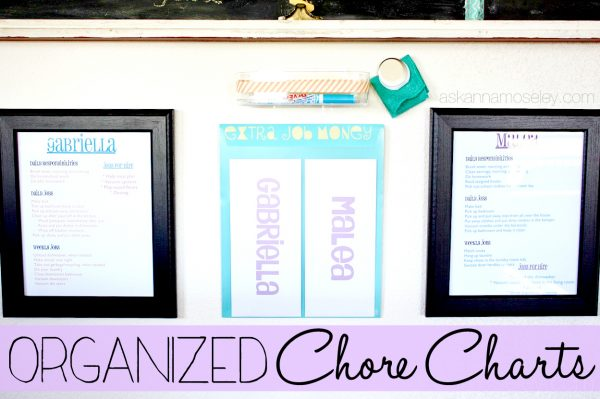 Organized chore charts - Ask Anna