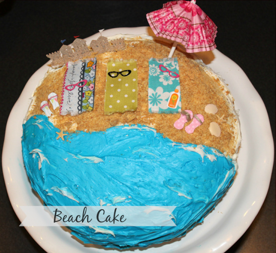Beach birthday cake