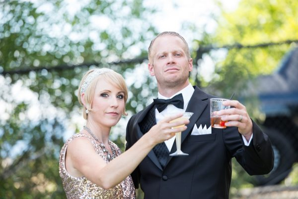 Celebrity couples themed party - Gatsby and Daisy Buchanan