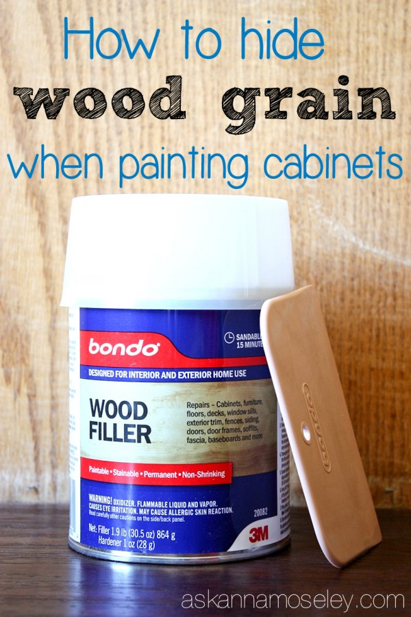 How to Hide Wood Grain on Cabinets - Ask Anna