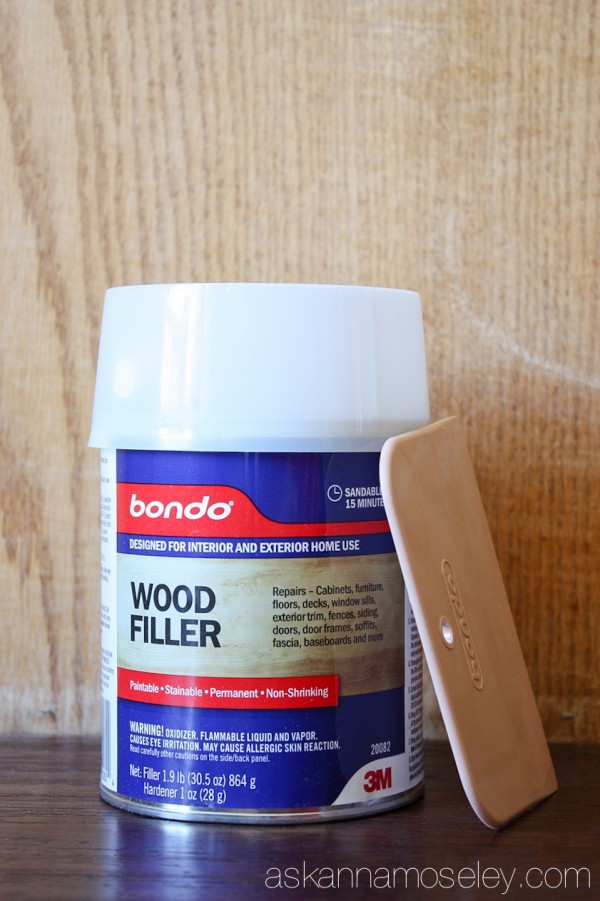 How to fill in wood grain on cabinets - Ask Anna