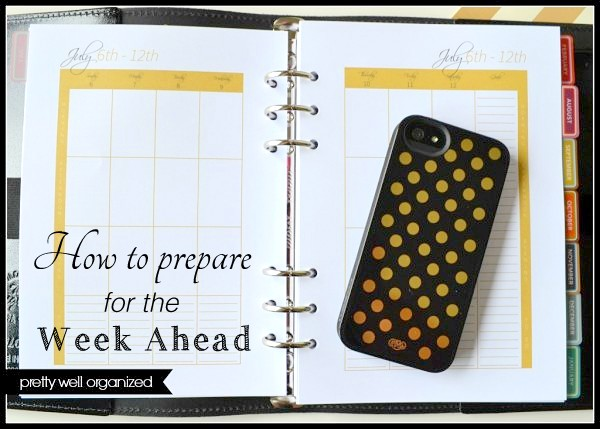 How to prepare for the week ahead - Ask Anna