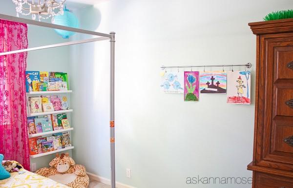 Child's bedroom artwork display - Ask Anna