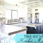 Black and white kitchen makeover - Ask Anna