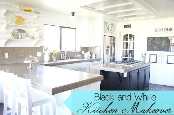 Black and white kitchen makeover - Ask Anna