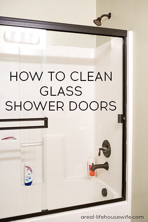 How to Clean Glass Shower Doors - Ask Anna