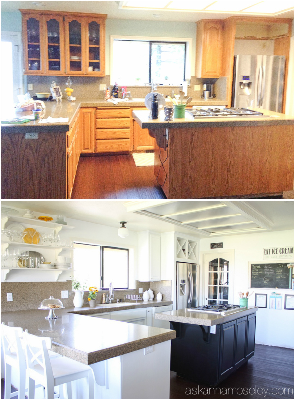 Kitchen before and after - Ask Anna