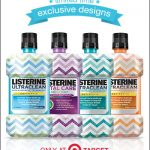 Listerine chevron patterned bottles