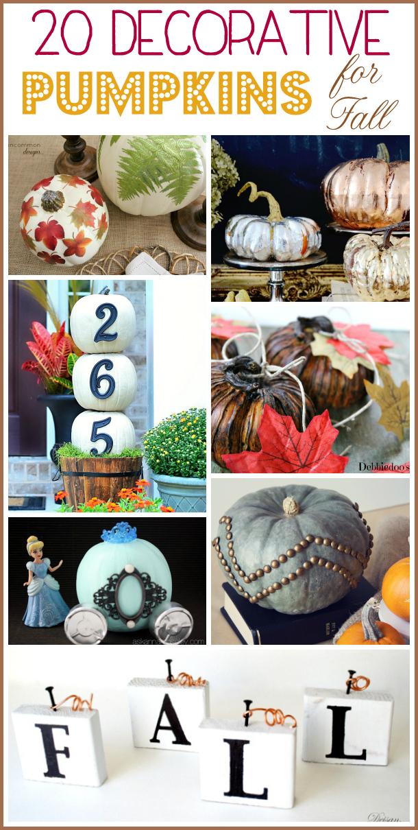 20 decorative pumpkins for Fall - Ask Anna
