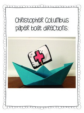 Columbus Day paper boat