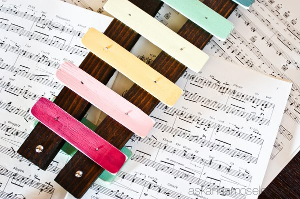 DIY Xylophone from paint sticks - Ask Anna