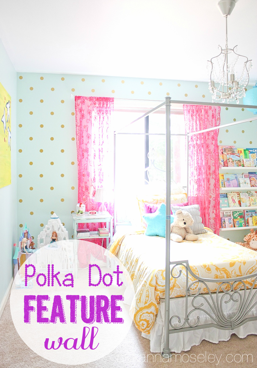 Girl's polka dot bedroom wall - Ask Anna