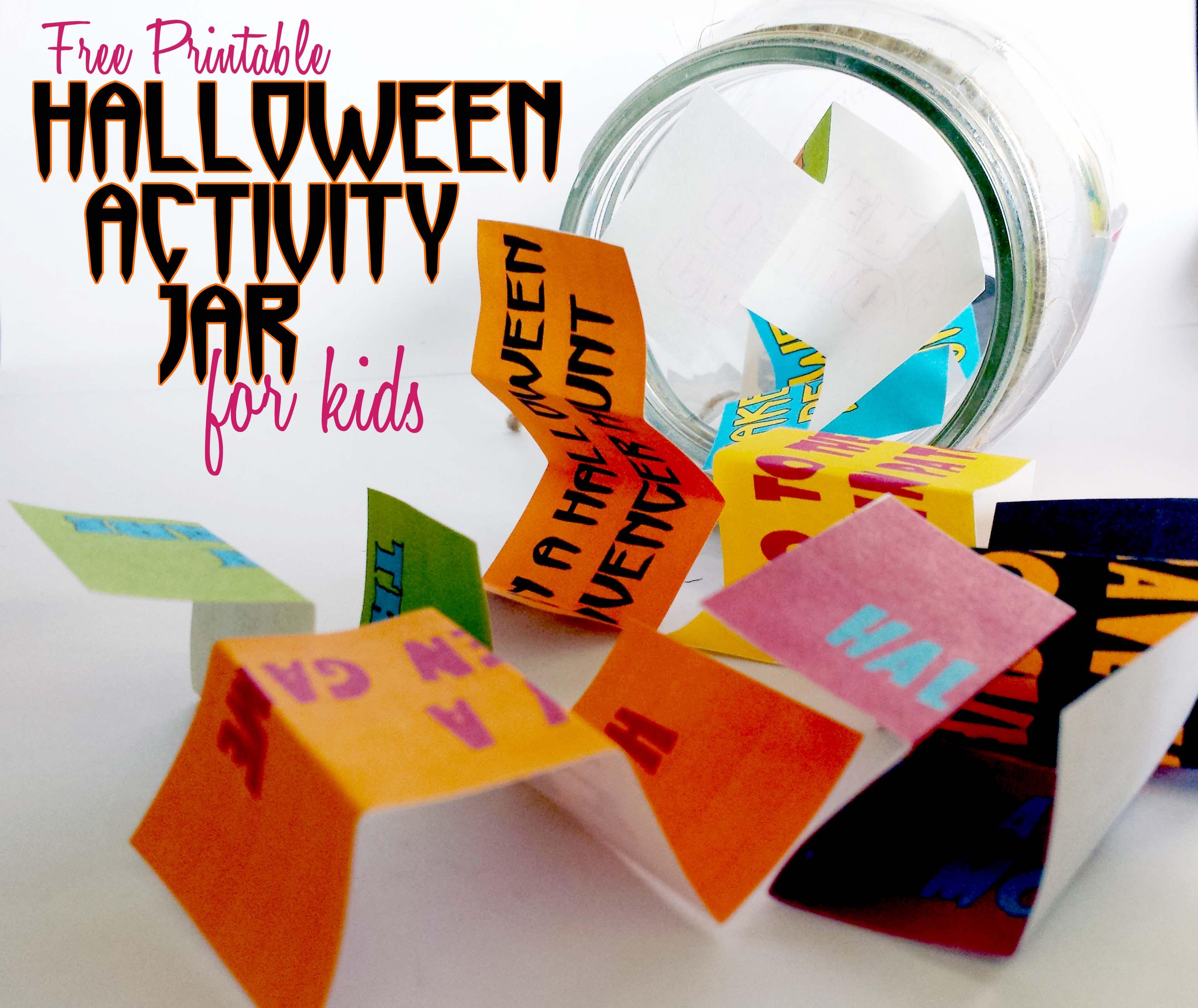 Kids' Halloween Activity Jar