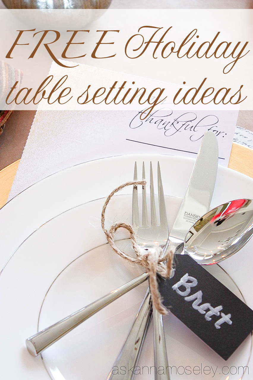 Holiday table setting ideas - Ask Anna