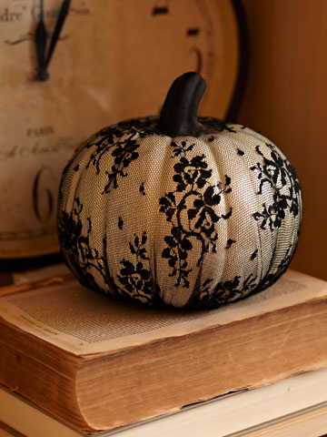 Lace wrapped pumpkin