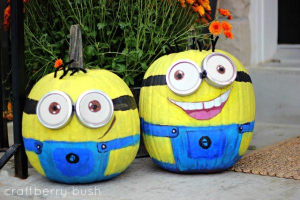 Minion pumpkins