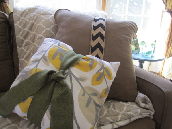 Bow tied pillows