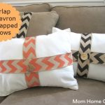 Burlap wrapped pillows