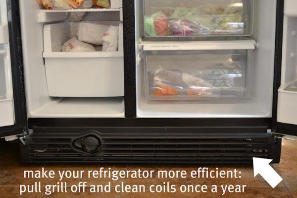 Clean fridge Coils
