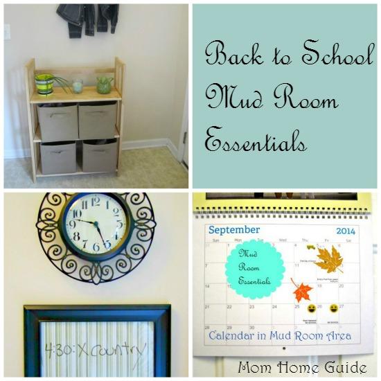 Back to school mud room essentials
