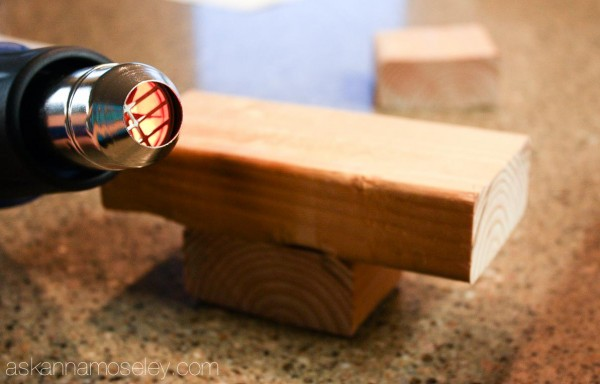 DIY Rustic Christmas Tree Tealight Holder - Ask Anna