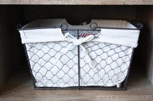 BHG chicken wire basket for storage - Ask Anna