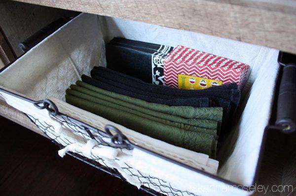 Cloth napkin storage - Ask Anna