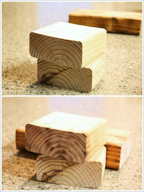 Use a heat gun to give wood a rustic look