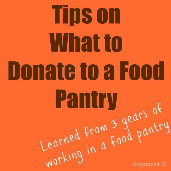 Tips on what to donate to a food pantry