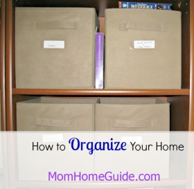 Home organization tips