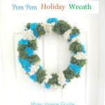 pom pom holiday wreath