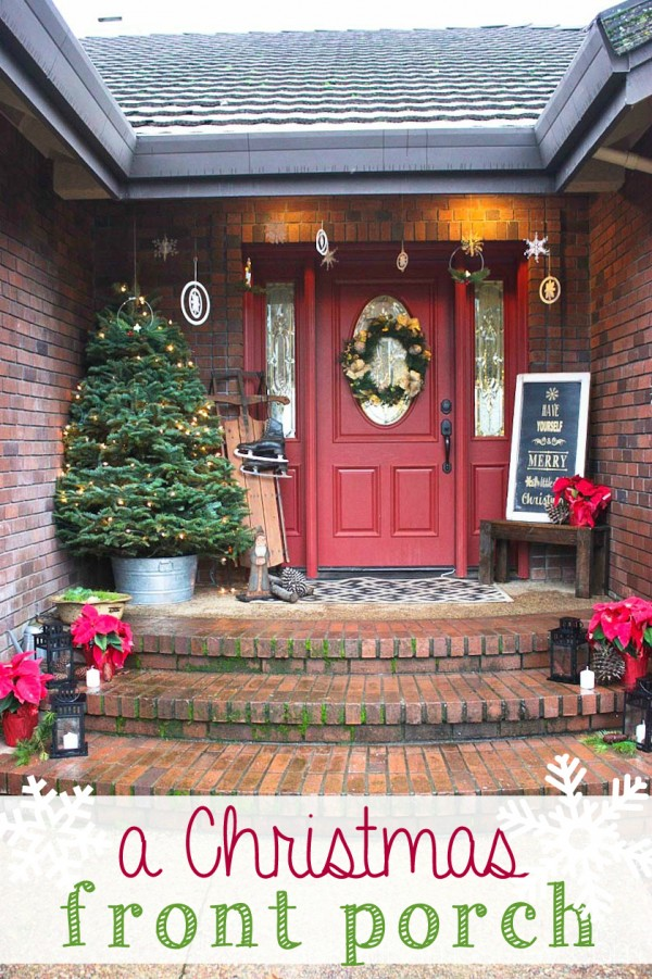 A Christmas front porch - Ask Anna