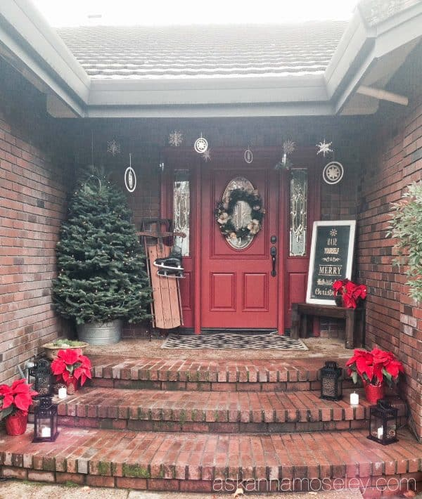 Christmas front porch - Ask Anna
