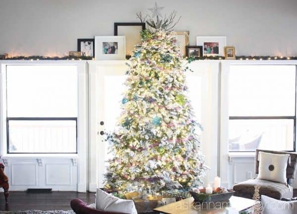 Peacock themed Christmas tree - Ask Anna