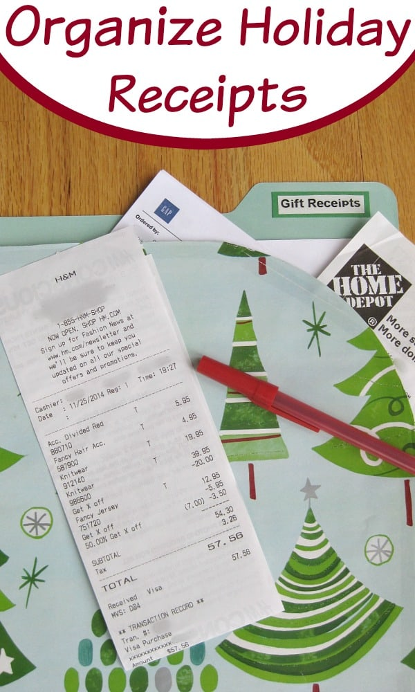 Organize Your Holiday Gift Receipts