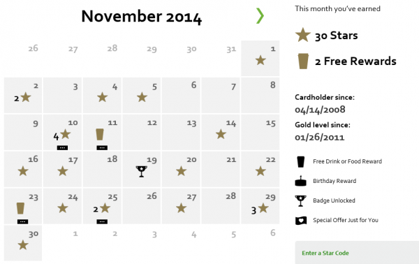 starbucks rewards statement using tips from Leah @Simple.Home.Blessings.
