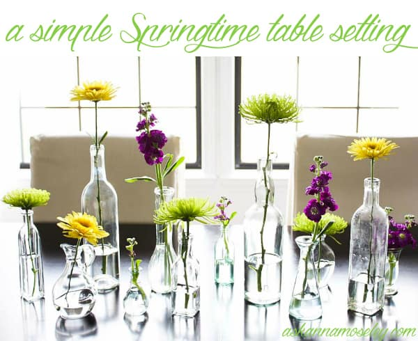 A simple and inexpensive Sringtime table setting - Ask Anna
