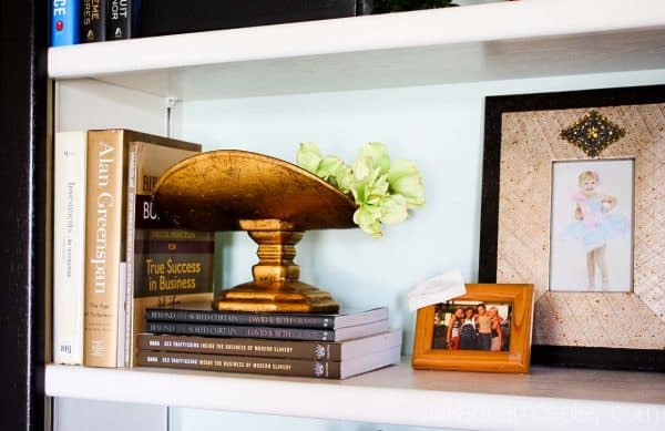 Built-in bookshelf makeover - Ask Anna