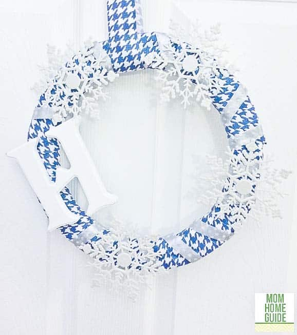 Frozen-inspired monogramed wreath