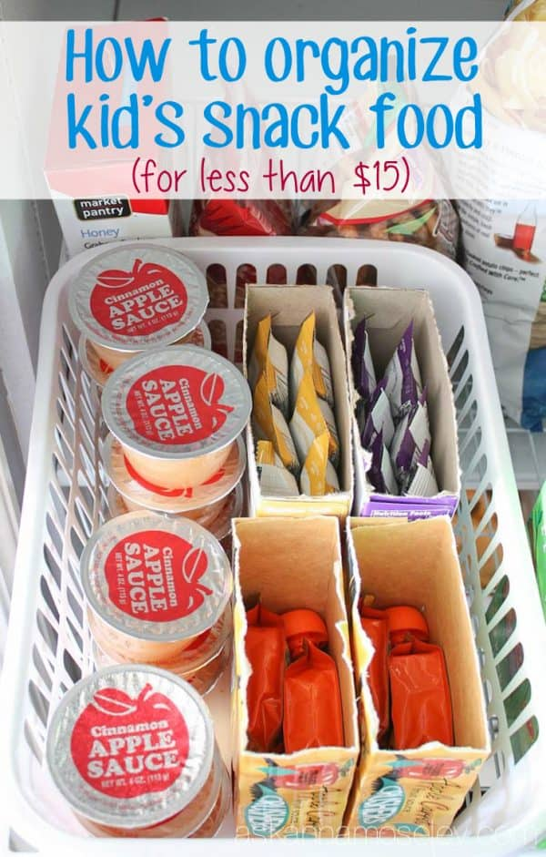 How to organize kid's snack food - Ask Anna