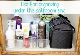 How to organize under the bathroom sink - Ask Anna