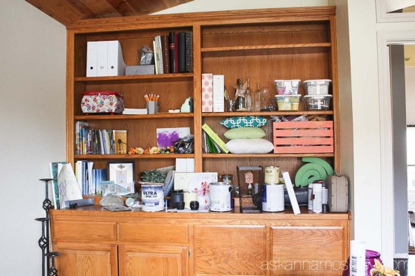 Office bookshelf makeover - Ask Anna