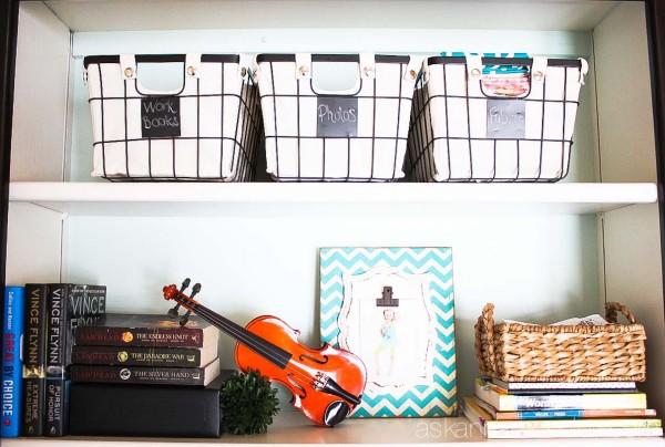 Office bookshelves makeover - Ask Anna