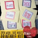 Open When Date Night Printable Kit A Year of Dates