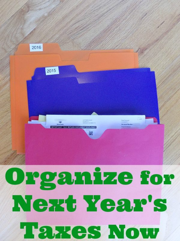 How to organize for next year's taxes starting now